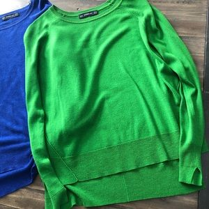 Two Zara light sweaters